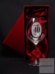 Borospohár 40. születésnapra díszdobozban