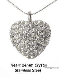 Swarovski kristályos nemesacél  medál 15