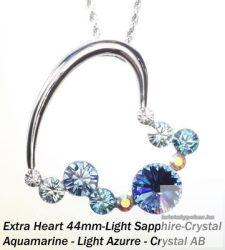 """Swarovski kristályos nemesacél  medál """"különleges szív medál"""""""
