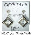 Lyukas bedugós-Crystal shade színű swarovski kristályos acél allargiamentes fülbevaló