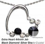 """Swarovski kristályos nemesacél  medál """"különleges szív forma"""""""