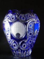 Nagy kristályváza (kék)
