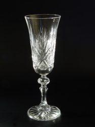 pezsgős kristály pohár LR X mintás