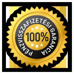 100%pénzvisszafizetési garancia