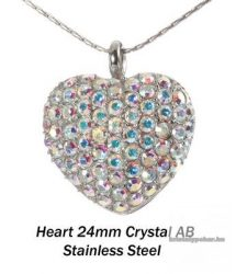 Swarovski kristályos nemesacél  medál 16