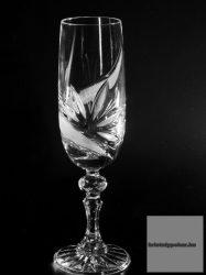 pezsgős kristálypohár MR új mintás