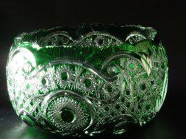 Nagy kristálytál (zöld)