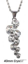 Swarovski kristályos nemesacél  medál 3