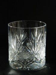 """Whiskys kristálypohár """"X"""" mintás"""